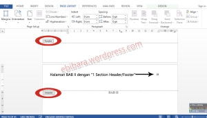 4-Halaman BAB II dengan 1 Section HeaderFooter